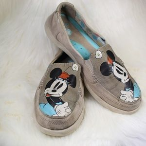 Minnie Mouse Canvas Crocs Women's Size 8